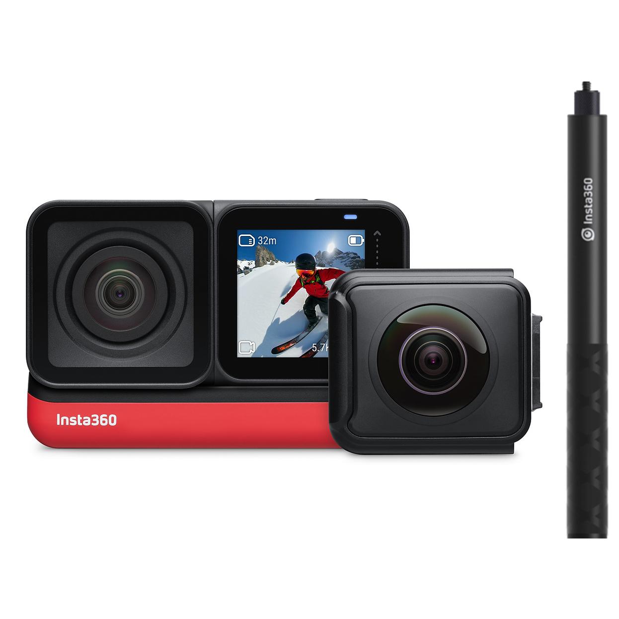 دوربین فیلم برداری ورزشی اینستا 360 مدل ONE R Twin به همراه مونوپاد نامرئی اینستا 360