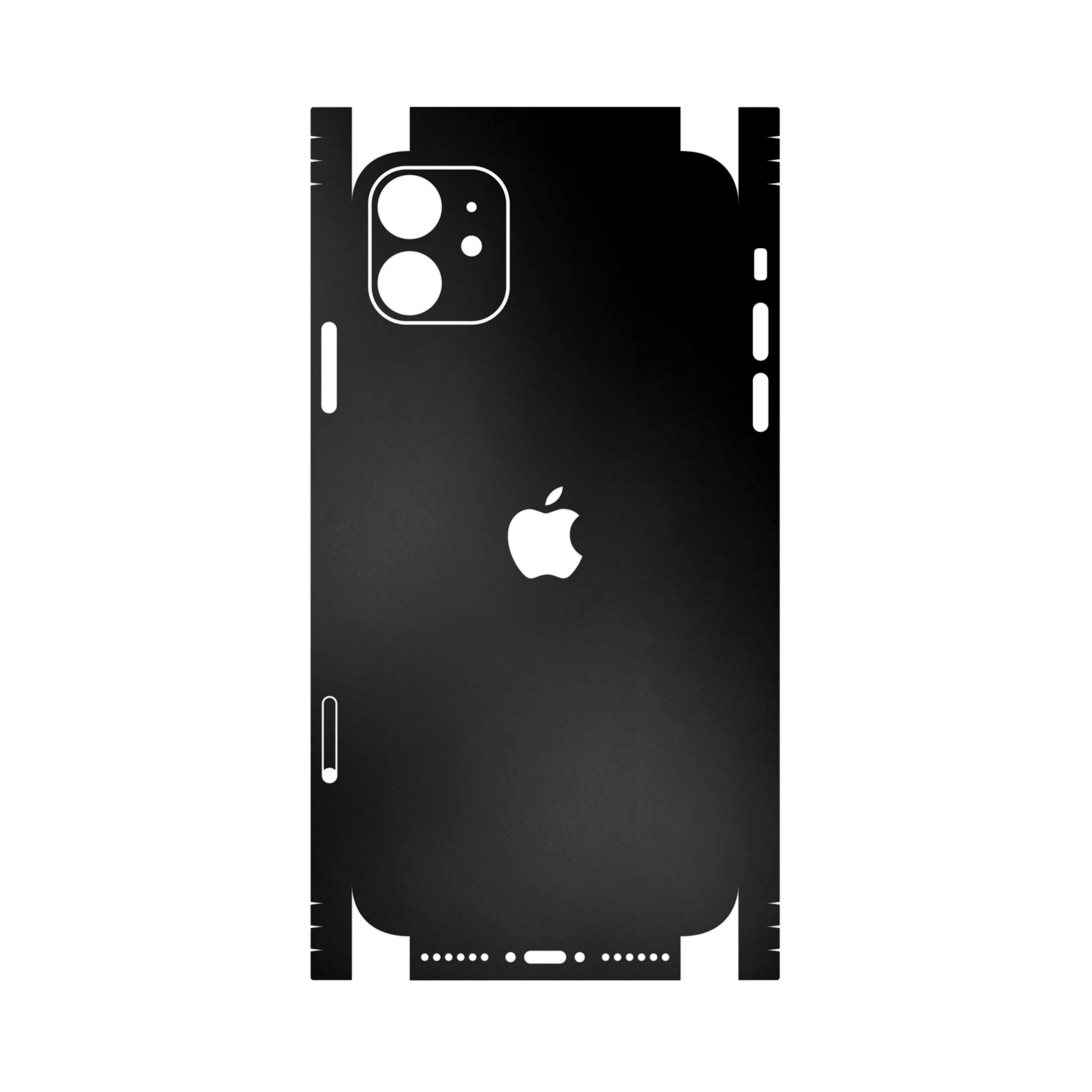 برچسب پوششی ماهوت مدل Black-Matte-FullSkin مناسب برای گوشی موبایل اپل iPhone 11
