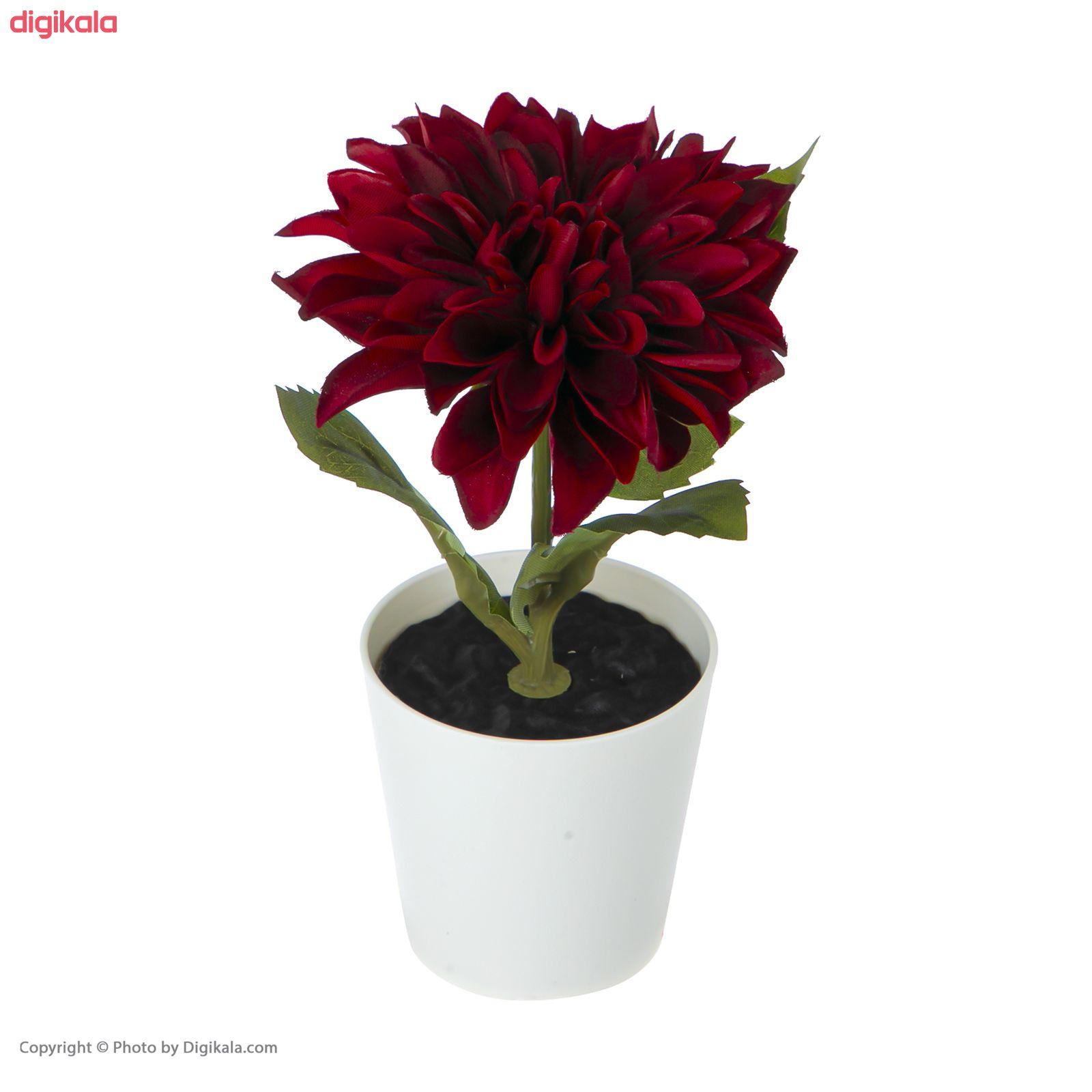 گلدان به همراه گل مصنوعی ایکیا مدل FEJKA مجموعه 3 عددی main 1 9