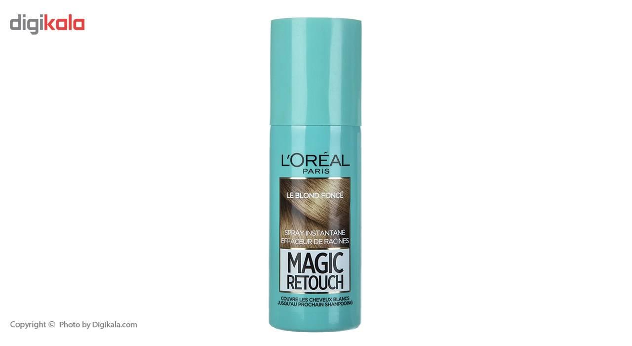 اسپری کانسیلر مو لورآل سری Magic Retouch مدل Dark Blonde حجم 75 میلی لیتر  Loreal Magic Retouch Dark