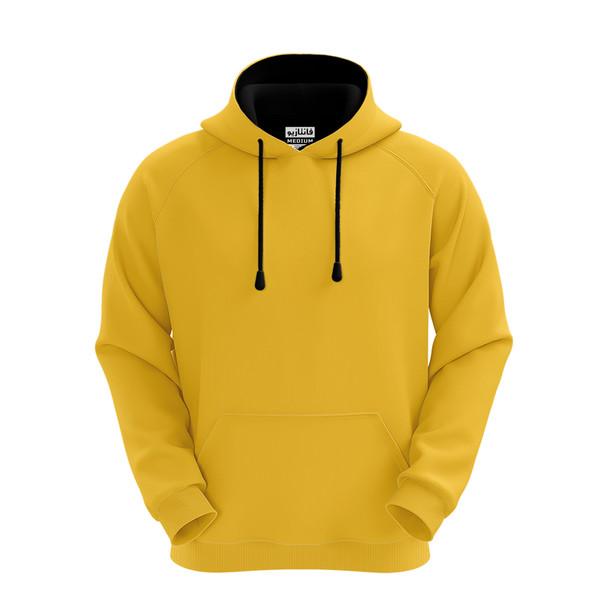 هودی مردانه  زرد فانتازیو مدل رگلان کد ۱۳۳