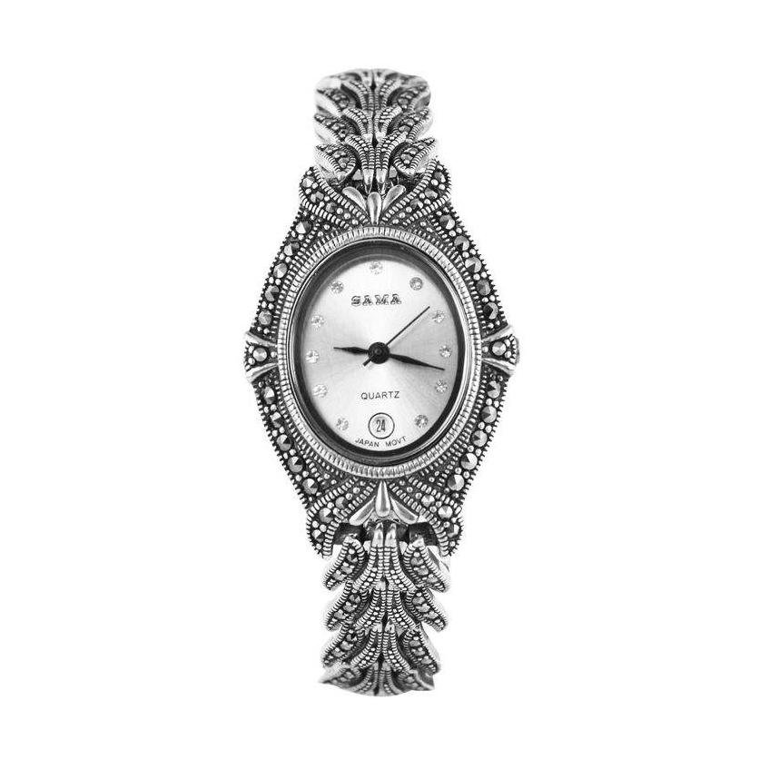 خرید و قیمت                      ساعت مچی  نقرهزنانه مدل سما کد AMT_W050