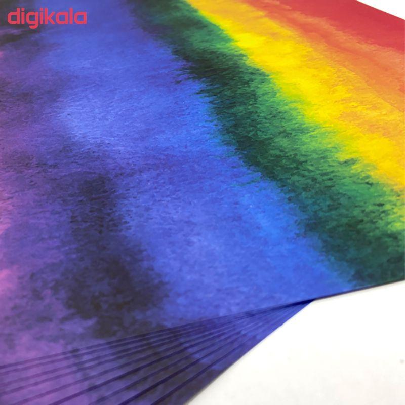 کاغذ رنگی A4 مدل آبرنگ بسته 10 عددی  main 1 2
