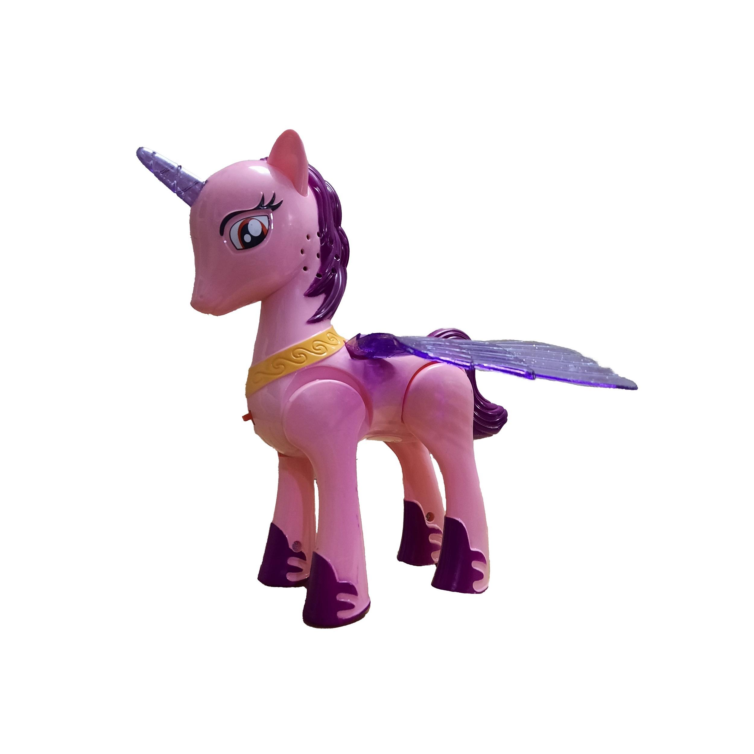اسباب بازی  مدل اسب تک شاخ بالدار کد 110
