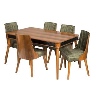 میز و صندلی غذاخوری 6 نفره مدل راشل کد 22