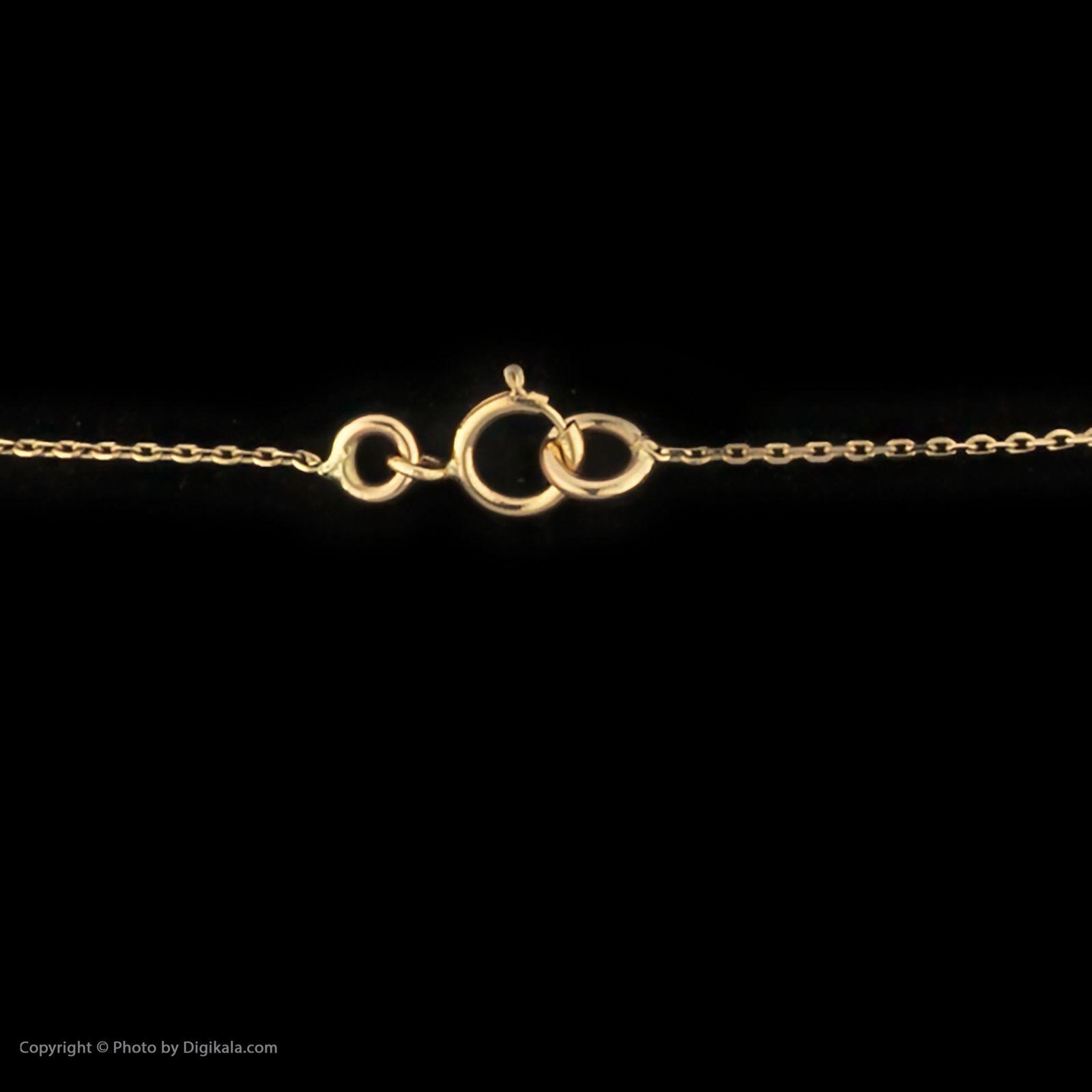 گردنبند طلا 18 عیار زنانه سنجاق مدل X083679 -  - 4