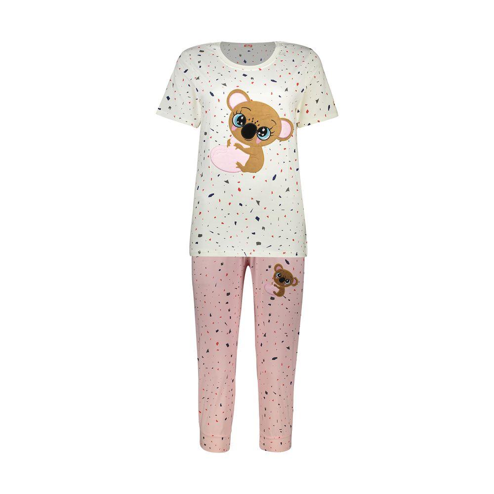 ست تی شرت و شلوارک راحتی زنانه مادر مدل 2041103-84