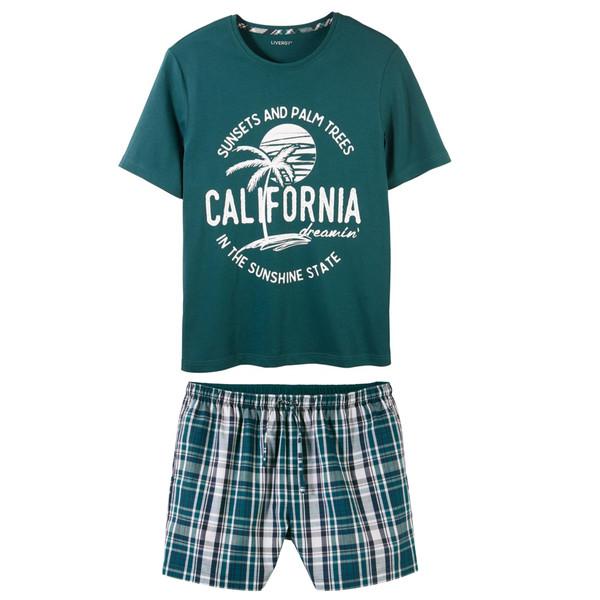 ست تی شرت و شلوارک مردانه لیورجی مدل California
