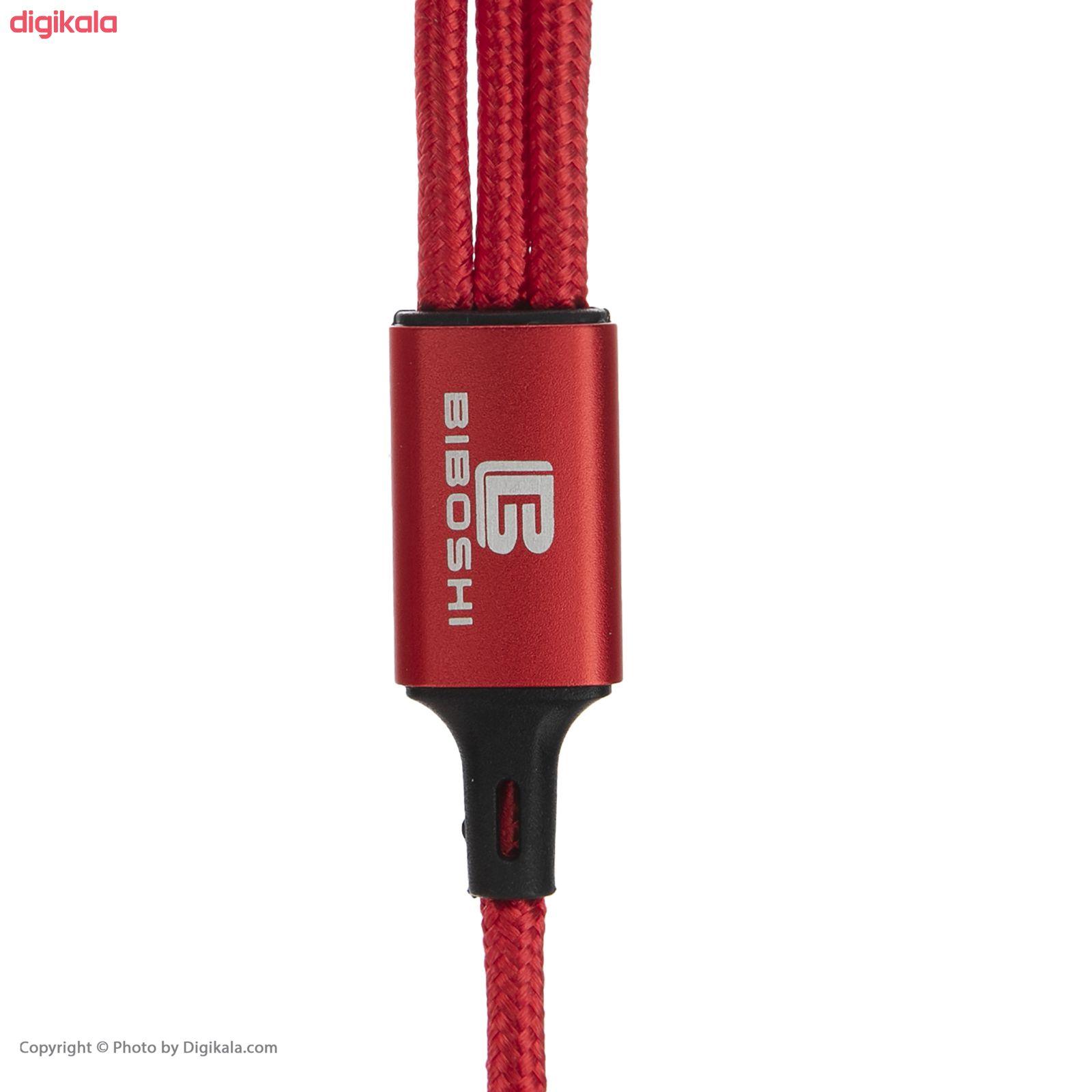 کابل تبدیل USB به لایتنینگ/USB-C/microUSB بیبوشی مدل CA009A طول 1 متر main 1 2