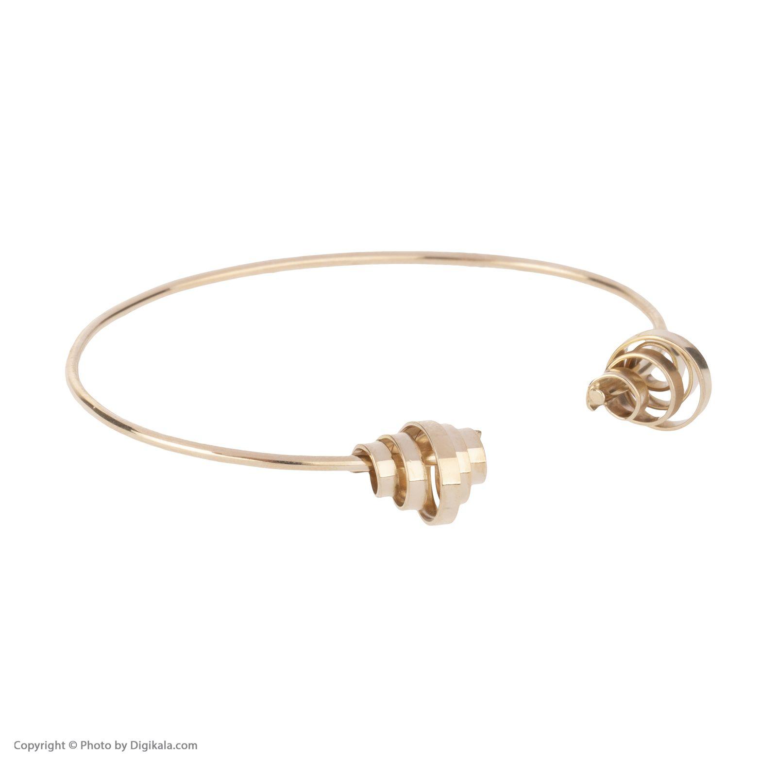 دستبند النگویی طلا 18 عیار زنانه سنجاق مدل X071474 -  - 3