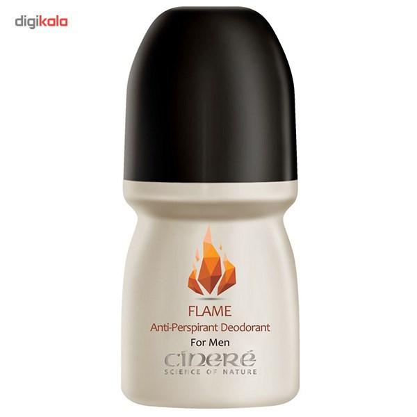 رول ضد تعریق مردانه سینره مدل Flame حجم 50 میلی لیتر  Cinere Roll On Deodorant Flame For Men 50ml