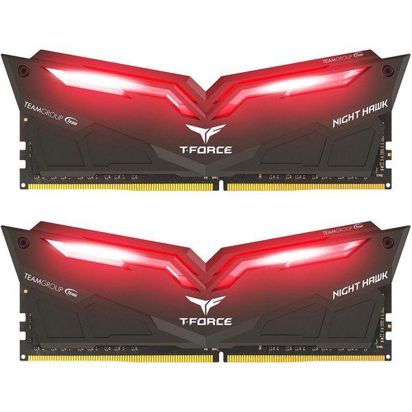 رم دسکتاپ DDR4 دو کاناله 3000 مگاهرتز CL16 تیم گروپ مدل T-Force Night Hawk ظرفیت 16 گیگابایت