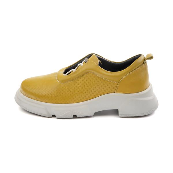کفش روزمره زنانه مارال چرم مدل پاتریسیا 1035-Avocado