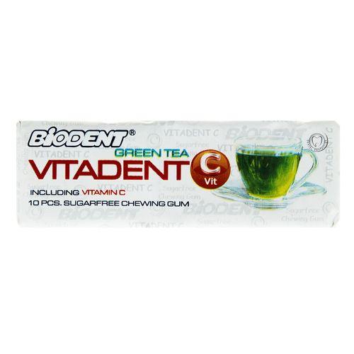 آدامس بدون شکر با طعم چای سبز لیمو حاوی ویتامین سی بایودنت