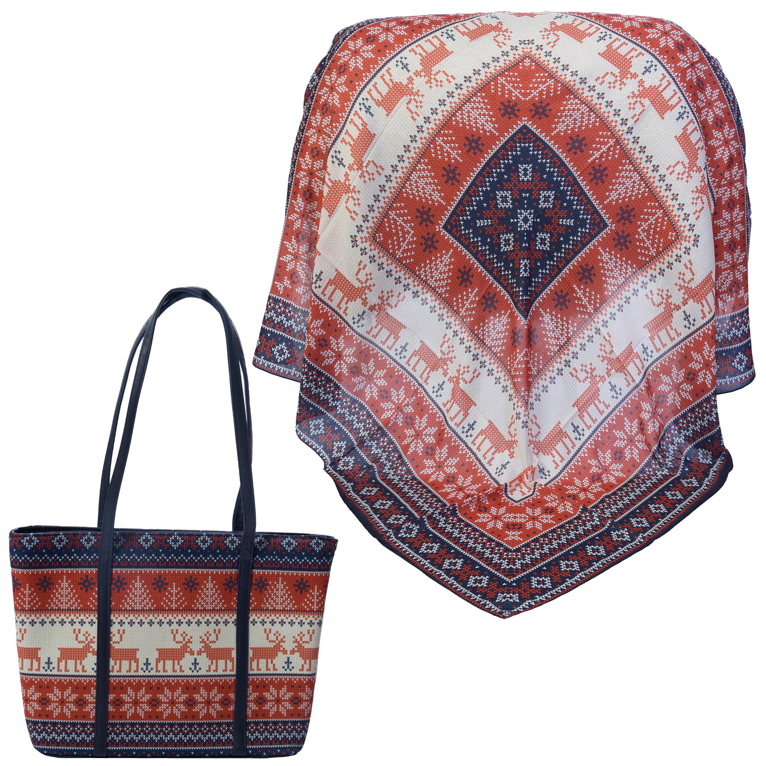 ست کیف و روسری زنانه کد 980908-T1
