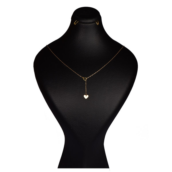 گردنبند طلا 18 عیار زنانه کرابو طرح قلب مدل Kr7005