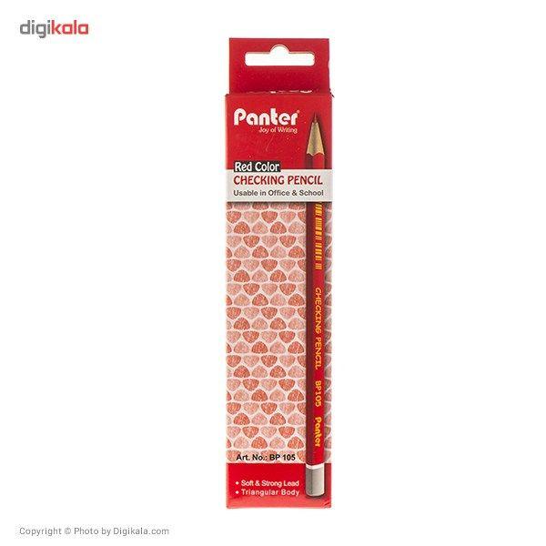 مداد قرمز پنتر مدل Checking Pencil - بسته 12 عددی main 1 7