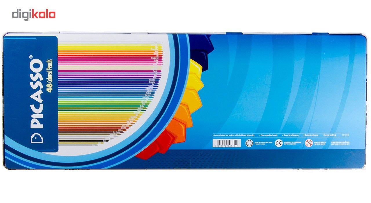 مداد رنگی 48 رنگ پیکاسو مدل Superb Writer طرح ونیز main 1 2