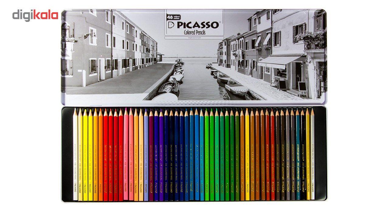 مداد رنگی 48 رنگ پیکاسو مدل Superb Writer طرح ونیز main 1 3