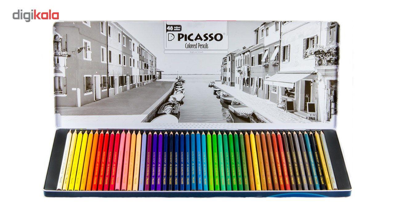 مداد رنگی 48 رنگ پیکاسو مدل Superb Writer طرح ونیز main 1 5