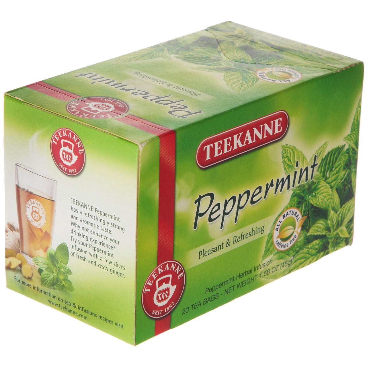 دمنوش کیسه ای تی کانه مدل Peppermint بسته 20 عددی