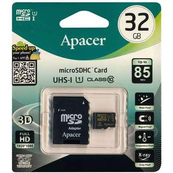 کارت حافظه microSDHC اپیسر کلاس 10 استاندارد UHS-I U1 سرعت 85MBps همراه با آداپتور SD ظرفیت 32 گیگابایت