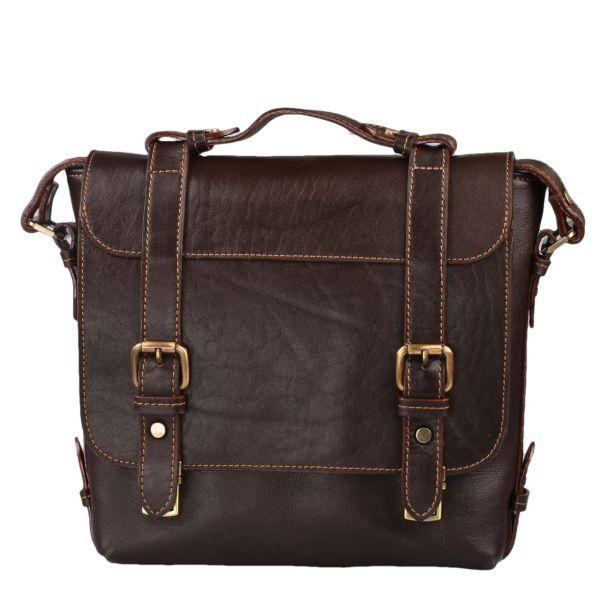 کیف دوشی چرم طبیعی کهن چرم مدل Db47-1