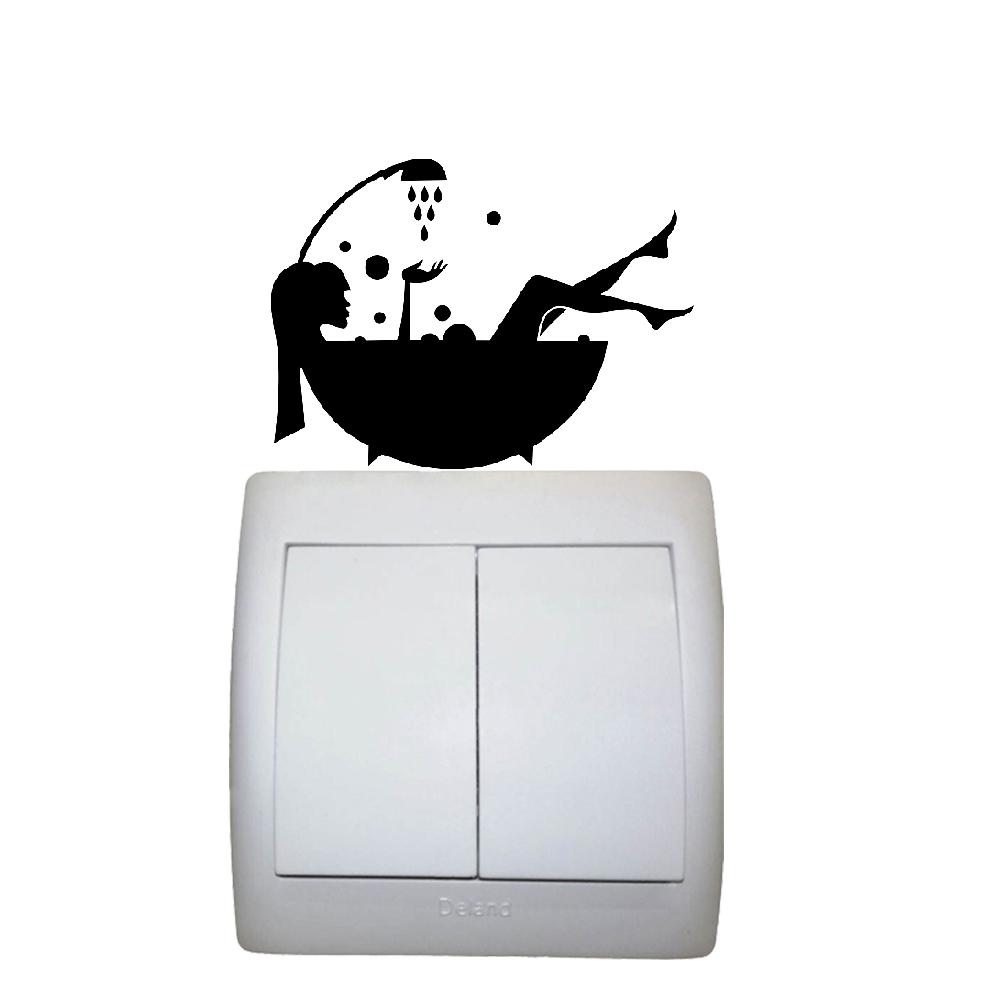 استیکر فراگراف FG طرح زن و حمام کد 007