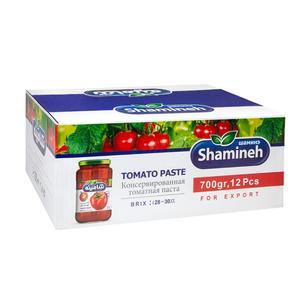 رب گوجه فرنگی غليظ شده شامينه - 700 گرم بسته ١٢ عددی