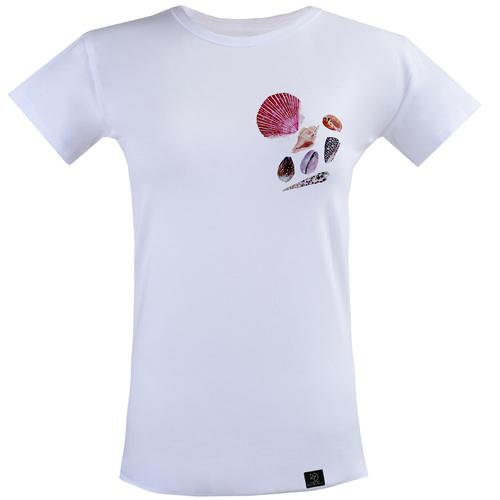 تیشرت زنانه 27 مدل صدف کد V01 رنگ سفید