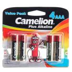 باتری نیم قلمی و جاکلیدی کملیون مدل Plus Alkaline 4AAA thumb