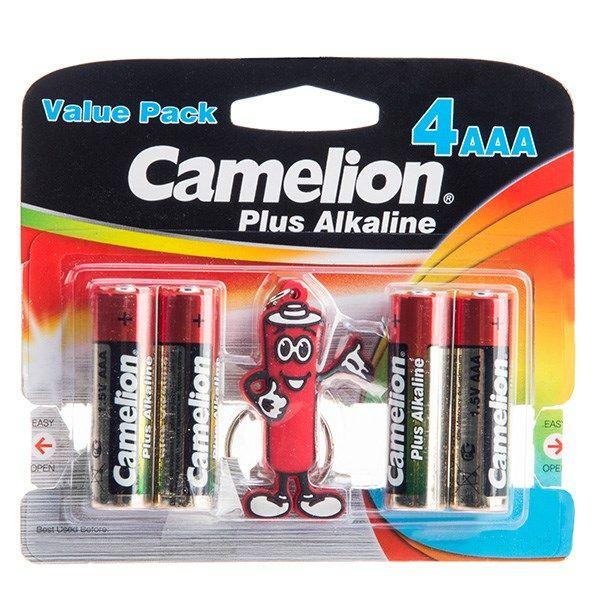 باتری نیم قلمی و جاکلیدی کملیون مدل Plus Alkaline 4AAA