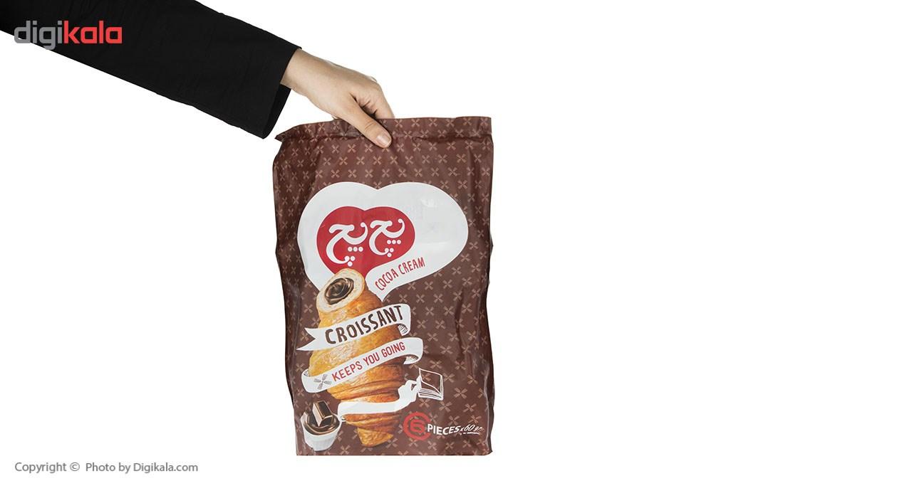 کروسان کاکائو پچ پچ مقدار 60 گرم بسته 6 عددی