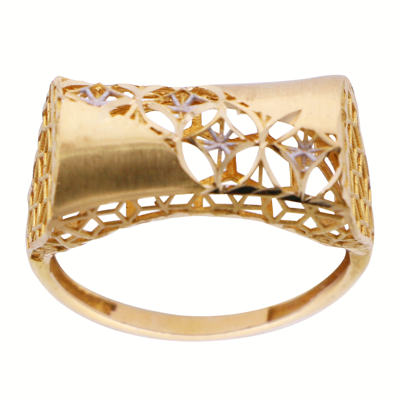 انگشتر طلا 18 عیار زنانه گالری یارطلا کد ANF04
