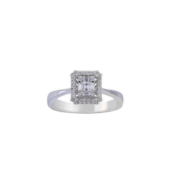 انگشتر طلا 18 عیار زنانه جواهری سروری مدل 13393
