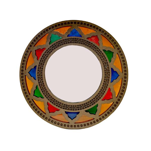 آینه چوبی مدل شبکه بری کد 009