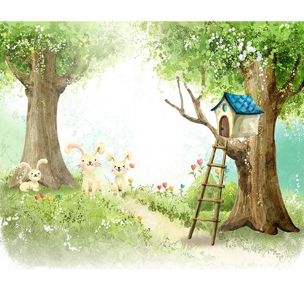 پوستر دیواری اتاق کودک مدل جنگل KA004