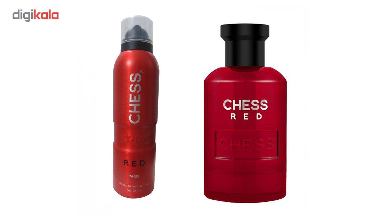 ادو تویلت مردانه اس پی پی سی مدل Chess Red حجم 100ml به همراه اسپری مردانه اس پی پی سی حجم 200 میلی لیتر -  - 2