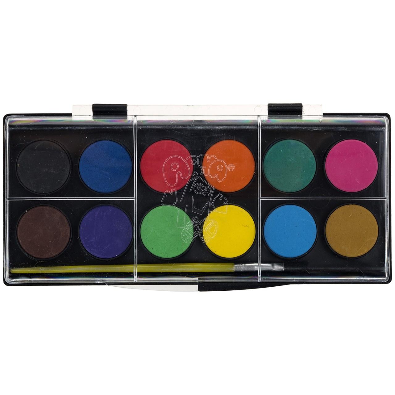 آبرنگ 12 رنگ آريا كد 1-5009