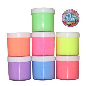 ژل بازی اسلایم گودی اسلایم طرح رنگین کمان مجموعه 7 عددی به همراه پیکسل