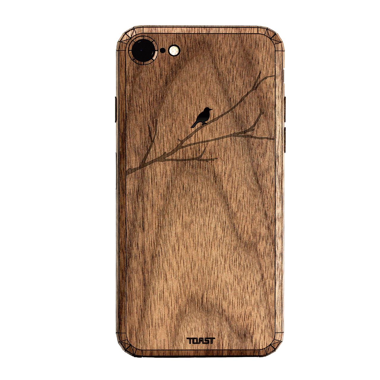 کاور چوبی تست مدل Bird On Branch مناسب برای گوشی های موبایل آیفون7 در رنگ های مشکی مات و مشکی براق