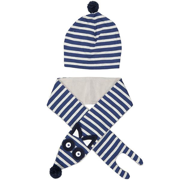 ست کلاه و شال گردن کودک دینو مدل 16S1-040
