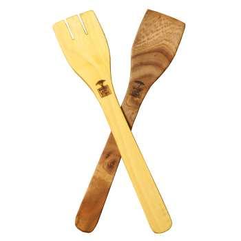 کفگیر چوبی وودلند مدل همه کاره بسته 2 عددی