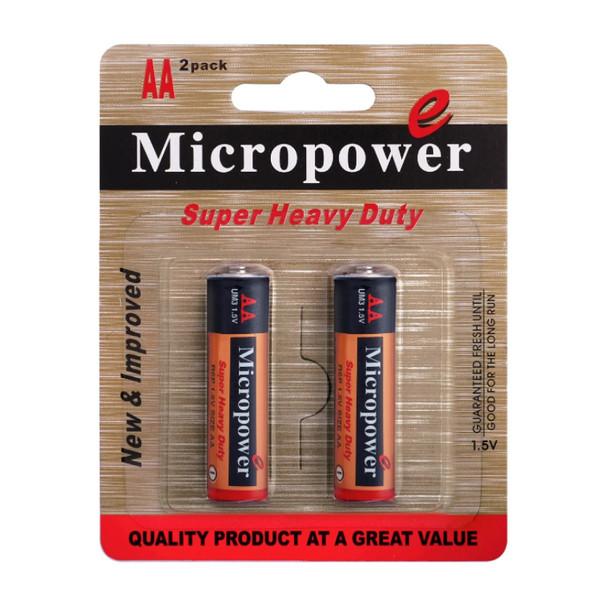 باتری قلمی میکروپاور مدل R6 2B بسته 2 عددی