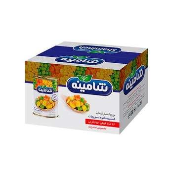 کنسرو مخلوط سبزیجات شامینه - 350 گرم بسته 24 عددی