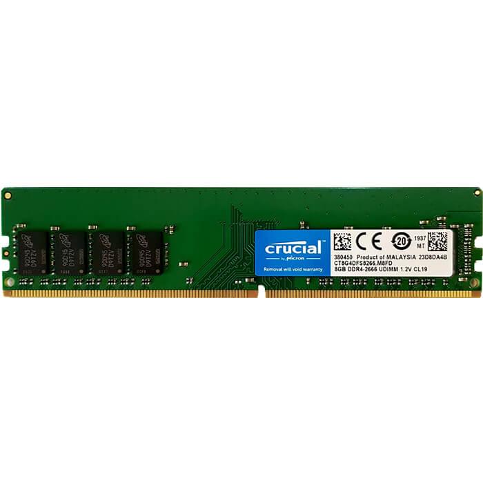 رم دسکتاپ DDR4 تک کاناله 2666 مگاهرتز CL19 کروشیال مدل CT8G4DFS8266 ظرفیت 8 گیگابایت