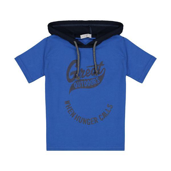 تی شرت کلاه دار پسرانه ایزی دو مدل 2181102-58