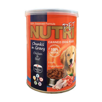 کنسرو غذای سگ نوتری پت مدل Chicken&Beef وزن 425 گرم