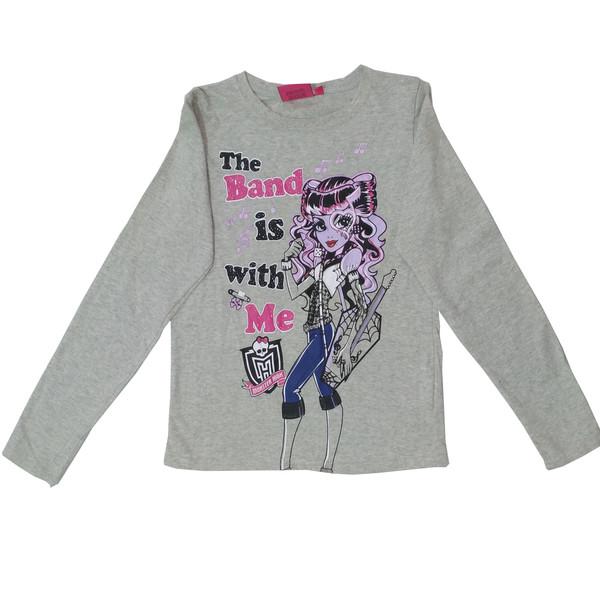 تی شرت آستین بلند دخترانه مانستر های مدل 11-11-131