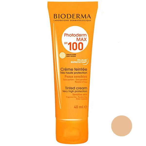 کرم ضد آفتاب بایودرما مدل CL100 حجم 40 میلی لیتر